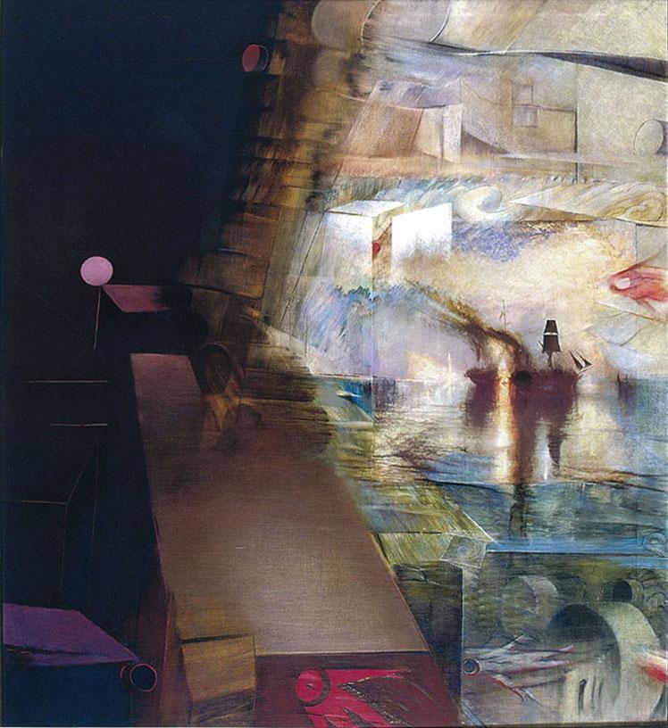 Burial at Sea painting Herb Greene