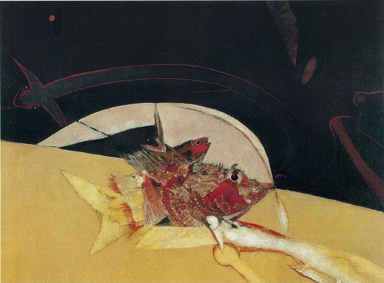 Herb Greene painting Decoy Fish
