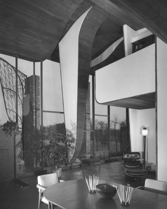 4.Cunaningham Residence-Interior-Herb Greene-Photo Julius Shulman