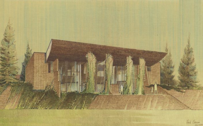 6.Cunningham Residence-Perspective-Herb Greene