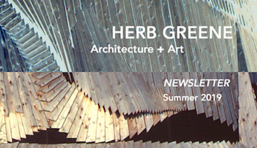 Herb Greene Newsletter Architecture and Art