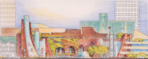 Government Center, Conceptual, 1978, Phoenix, AZ