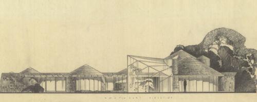 Mendel Residence, Conceptual, 1955, Houston, TX