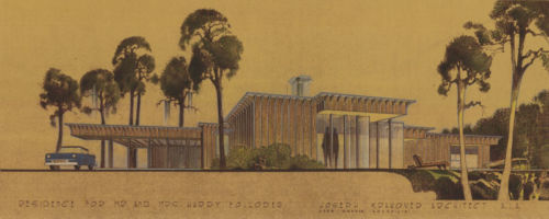 Folloder Residence, Conceptual, 1956, Houston, TX