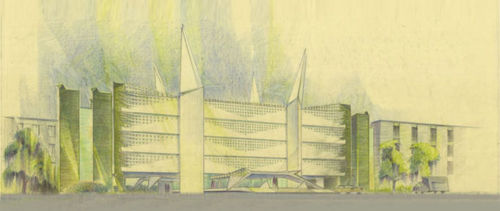 Baylor Medical College, Conceptual, 1958, Houston, TX